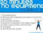 20 minutes no equipment workout