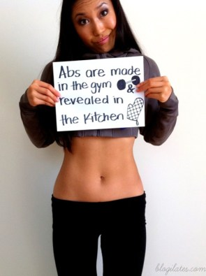 abs are made in the gym and revealed in the kitchen