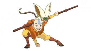 avatar ang and a flying monkey