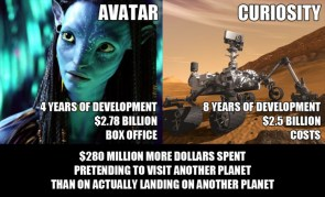 avatar vs curiosity