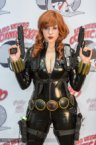 black widow cosplayer