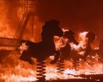burning bouncy horse