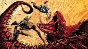 captain america and hawkeye vs demon monster