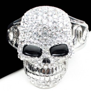 crystal diamond skull