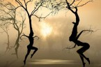 dancing nude trees