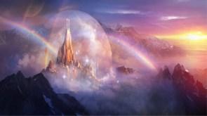 fantasy city of rainbows