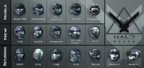 halo reach armor classes