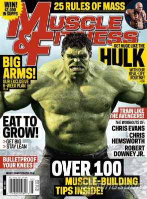 hulk was on the cover of muscle and fitness