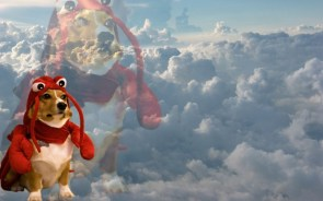 lobster dog in the clouds