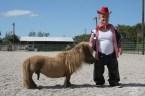 midget pony and rider