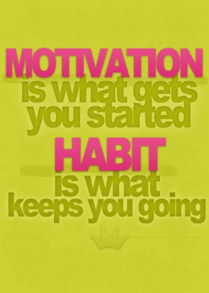 motivation is what gets you started – habit is what keeps you going