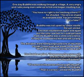 one day buddha was walking through a village
