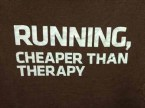 running – cheaper than therapy
