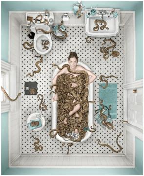 snake bath