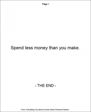 spend less money than you make