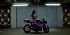 t-mobile girl on her bike