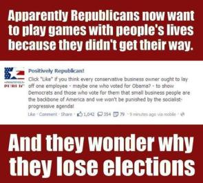 they wonder why they lose elections