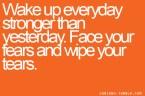 wake up everyday