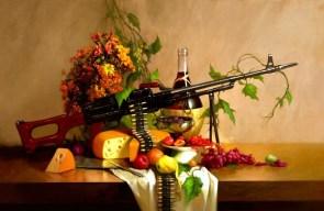 wine, cheese and machine guns
