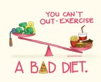 you cant out-exercise a bad diet