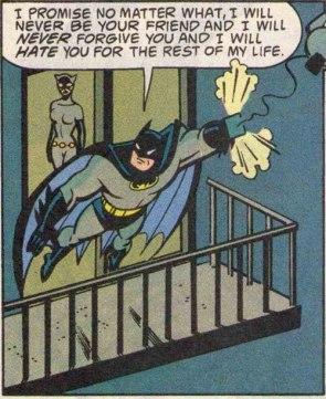 Batman can hold a grudge