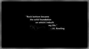 Rock bottom became the solid foundation on which I rebuild my life – JK Rowling