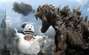 Stay Puff Marshmellow Man vs Godzilla