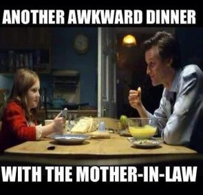 another awkward dinner with the mother in law