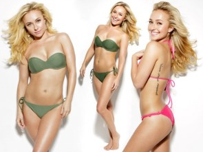 hayden panettiere – green and pink bikini