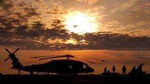 helicoptor sunset
