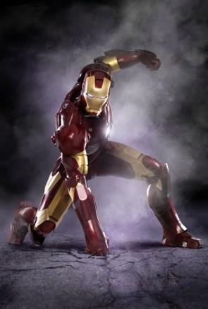 iron man pounds the ground