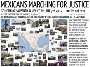 mexicans marchine for justice
