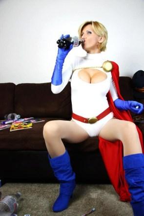 powergirl drinks diet coke