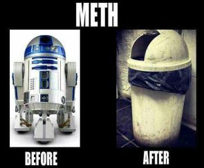 r2d2 – meth before and after