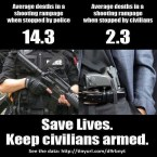 save lives – keep civilians armed