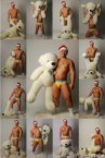 sexy man with a polar bear