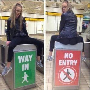 way in – no entry