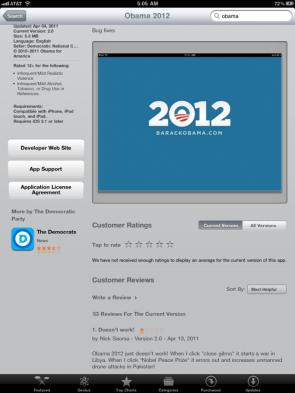 Obama 2012 app review