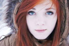 Red Head in the cold