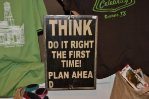 THINK – do it right the first Time