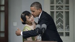 Obama forces himself upon a lady