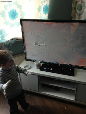painting the tv