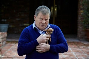 shatner with a puppy