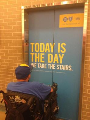 today is the day we take the stairs