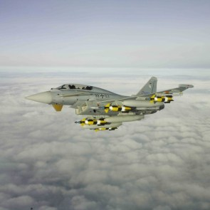 eurofighter and bombs