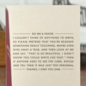 Do me a favor – Card