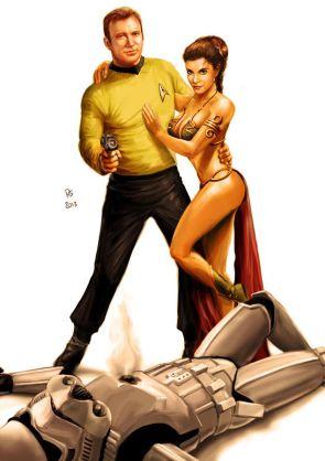 Kirk gets slave leia