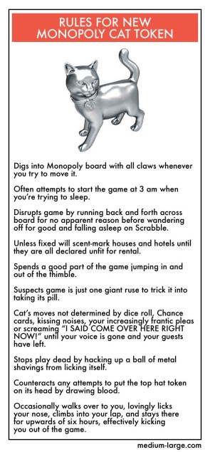 Rules for new Monopoly Cat Token