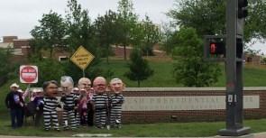 bush library protest