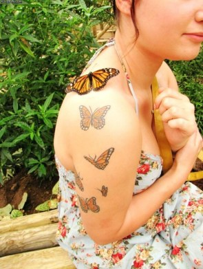butterfly and butterfly tattoos